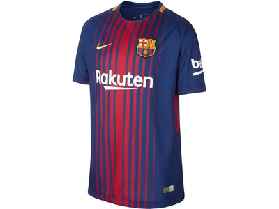 NIKE Kinder Fußballtrikot FC Barcelona Stadium Home Saison 2017/18 Blau