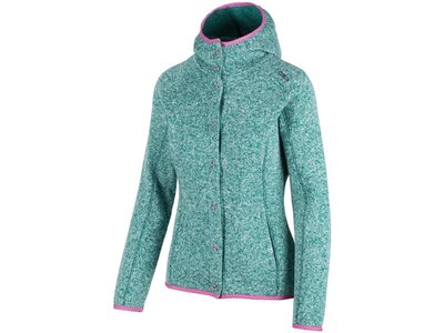 CMP Damen Sweatjacke Fix Hood Grün