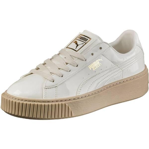 PUMA Damen Sneakers Basket Platform Patent