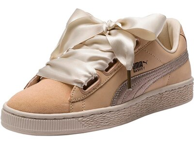 PUMA Damen Sneakers Basket Heart up Braun