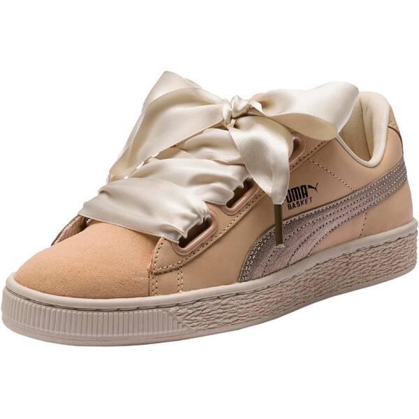 PUMA Damen Sneakers Basket Heart up
