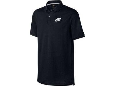 NIKE Herren Trainingsshirt / Poloshirt Sportswear Polo Schwarz