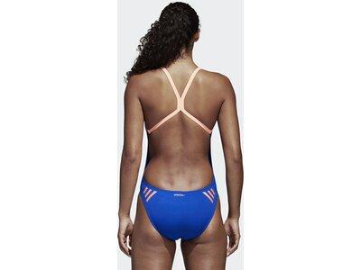 ADIDAS Performance Damen 3-Streifen Badeanzug Blau