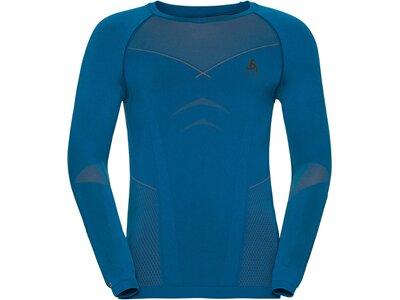 ODLO Herren Funktionsunterhemd Evolution Warm Baselayer Langarm Blau