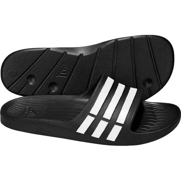ADIDAS Herren Badeschuhe Duramo Slide   Schuhe > Badeschuhe   Schwarz - Weiß   ADIDAS
