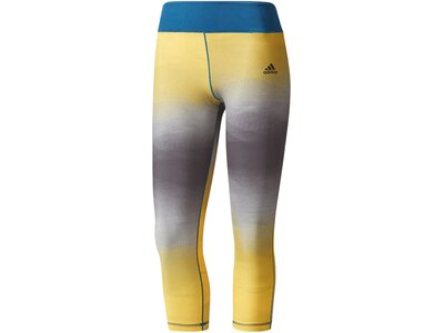 ADIDAS Damen Trainingstights Ultimate 3/4 Dreiviertellang Gelb