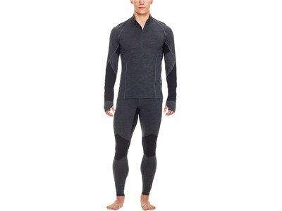 ICEBREAKER Merino Herren Shirt BodyfitZONE Winter Zone Long Sleeve Half Zip Langarm Schwarz