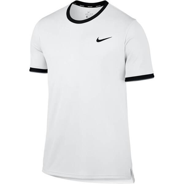 NIKE Herren Tennisshirt Kurzarm | Sportbekleidung > Sportshirts > Tennisshirts | White - Black | NIKE