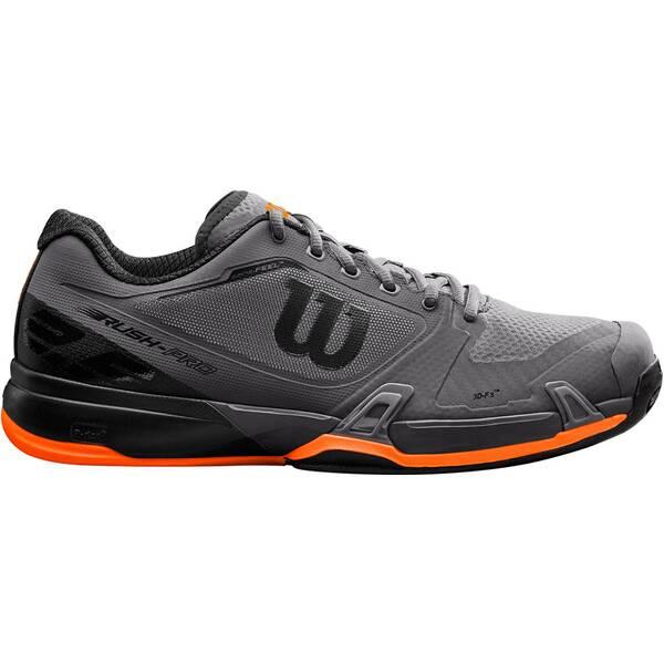 WILSON Herren Tennisoutdoorschuhe RUSH PRO 2.5 Clay Magnet/Bk/Shocki