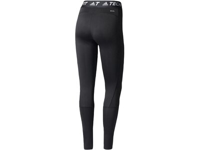 ADIDAS Damen Trainingstights / Fitnesshose TF Long Tight - Motivational Slogan Grau