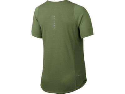 NIKE Damen Laufshirt Zonal Cooling Relay Kurzarm Grün