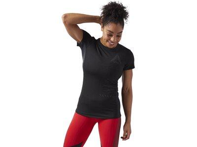 REEBOK Damen ACTIVCHILL Graphic T-Shirt Schwarz