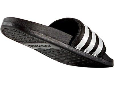 ADIDAS Damen Badeschuhe Adilette Cloudfoam Ultra Stripes Slipper Schwarz