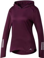 ADIDAS Damen Laufshirt mit Kapuze Response Clima Hoodie W
