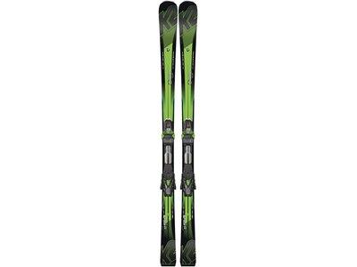 K2 Herren Slalomskier Super Charger inkl. Bindung MX Cell 12 Schwarz