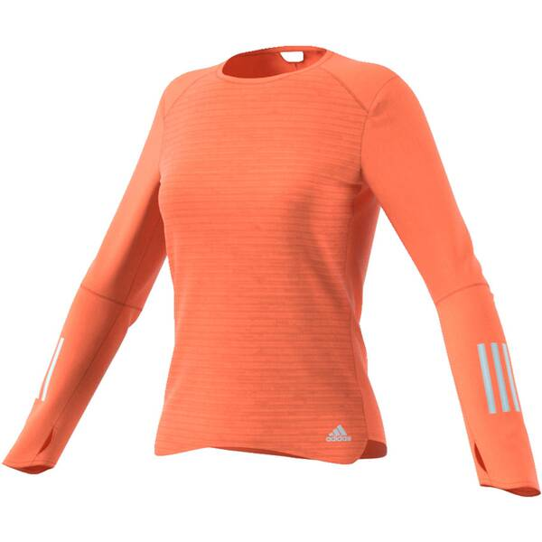 new images of 100% quality another chance ADIDAS Damen Laufshirt / Trainingsshirt Response Long Sleeve Tee Langarm