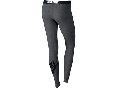 NIKE Damen Tights Leg-A-See-Logo Grau