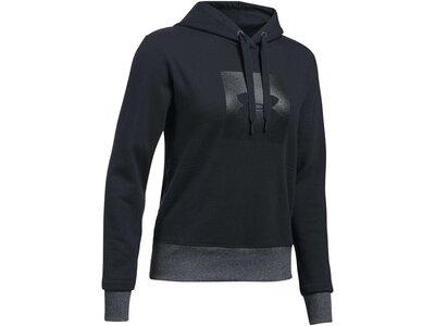 UNDER ARMOUR Damen Sweatshirt mit Kapuze Threadborne Fleece BL Hoodie Schwarz