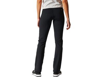 ADIDAS Damen Sporthose Straight Woven Schwarz