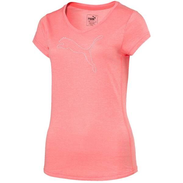PUMA Damen Trainingsshirt Cat Kurzarm