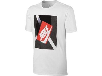 NIKE Herren Trainings-Shirt Sportswear Tee Shoebox Photo Kurzarm Weiß