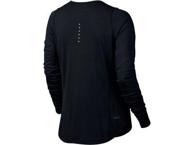 NIKE Damen Laufshirt / Langarmshirt Zonal Cooling Relay Schwarz