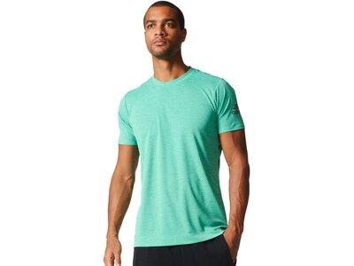 ADIDAS Herren Trainingsshirt Freelift Tee Climachill Speed Stripes Kurzarm Blau