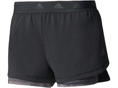 ADIDAS Damen Trainingsshorts 2IN1 Aop Short Grau