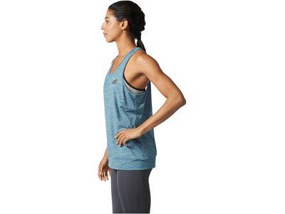ADIDAS Damen Trainingstank PRF Banded Blau