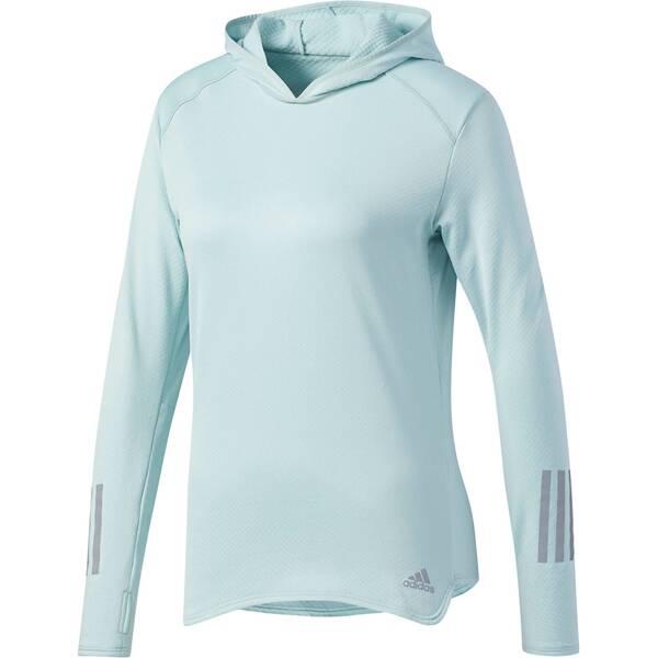 ADIDAS Damen Laufshirt Response Clima Warm Hoodie Langarm