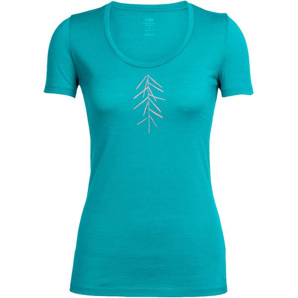 ICEBREAKER Merino Damen Shirt Tech Lite SS Scoop Lancewood Kurzarm