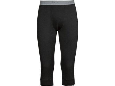 ODLO Herren Funktionsunterhose Pants 3/4 Natural 100% Merino Schwarz