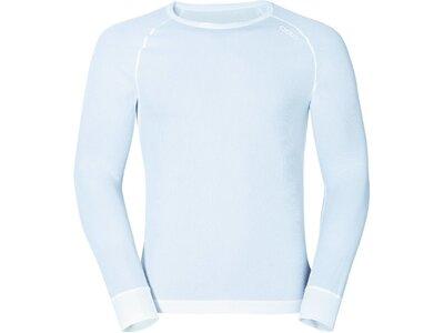 "ODLO Herren Funktionsunterhemd / Langarm-Shirt ""L/S Crew Neck Cubic"" Weiß"