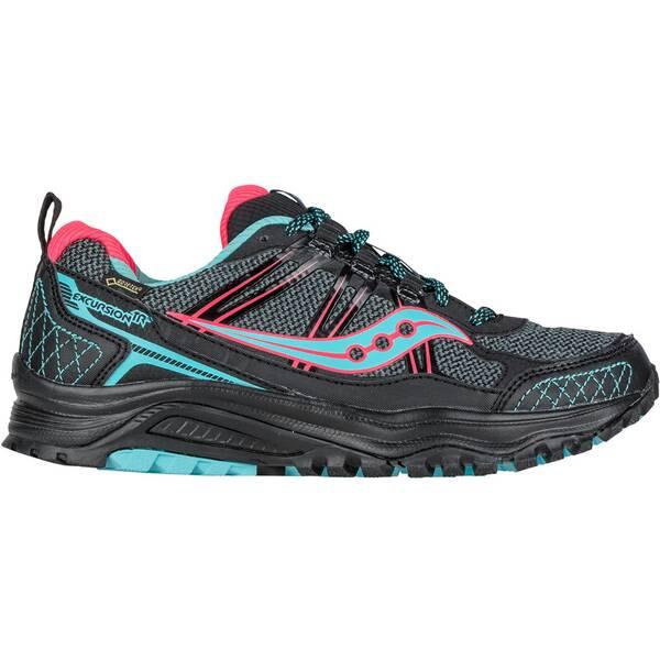 SAUCONY Damen Laufschuhe / Trail Running Schuhe Excursion TR10 GTX schwarz/türkis